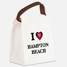 I love Hampton Beach New Hampshir Canvas Lunch Bag