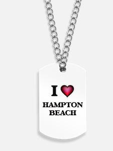 I love Hampton Beach New Hampshire Dog Tags