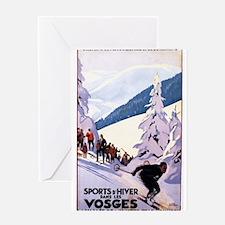 Spectators Watching Skier at Alsace-Lorraine Greet
