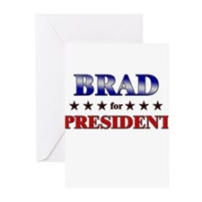 BRAD for president Greeting Cards (Pk of 20)