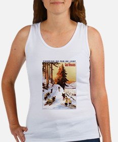Vosges, France - Sledding & Skiing Tank Top