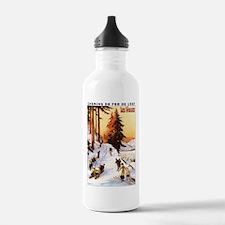 Vosges, France - Sledding & Skiing Water Bottle