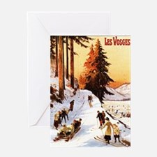 Vosges, France - Sledding & Skiing Greeting Cards