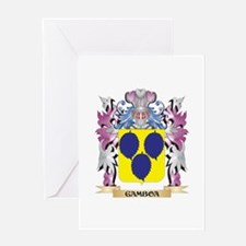 Gamboa Coat of Arms (Family Crest) Greeting Cards