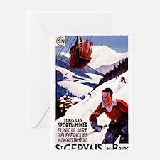 St Gervais-Les-Bains, France - Vintage Poster Gree