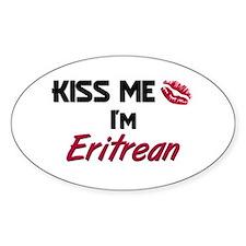 Kiss me I'm Eritrean Oval Decal