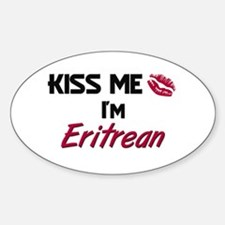 Kiss me I'm Eritrean Oval Decal