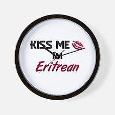 Kiss me I'm Eritrean Wall Clock