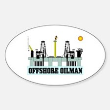 Offshore Oilman Oval Decal