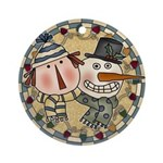 Andy and Snow Buddy Ornament (Round)