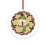 Snow Friend Ornament (Round)