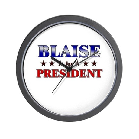 BLAISE for president Wall Clock