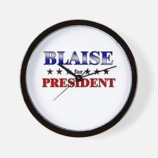 BLAISE for president Wall Clock
