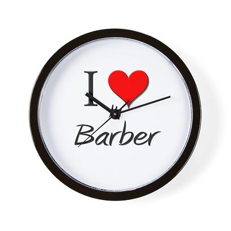I Love My Barber Wall Clock