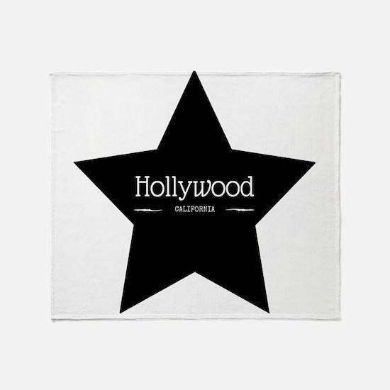 Hollywood California Black Star Throw Blanket