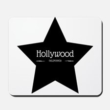 Hollywood California Black Star Mousepad