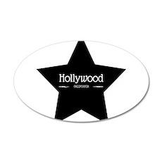 Hollywood California Black Star Wall Decal