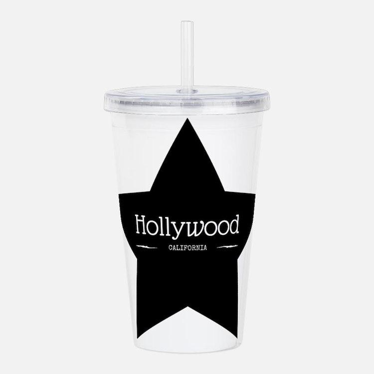 Hollywood California Black Star Acrylic Double-wal
