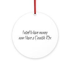 Money or Cornish Rex Ornament (Round)