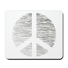Peace Sign Pencil Scribbles Mousepad