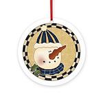 Sammy Snowman Ornament (Round)