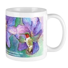 Hummingbird Small Mug Zoom View of art, Full Wrap