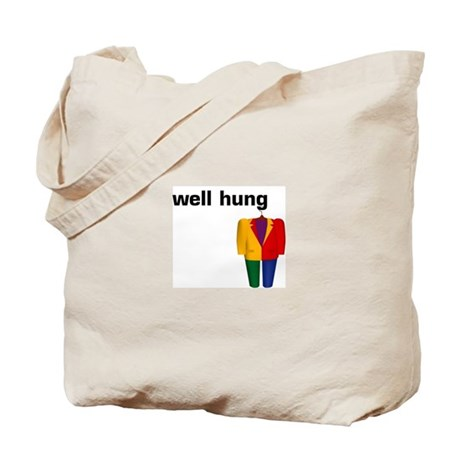 """well hung"" Tote Bag"