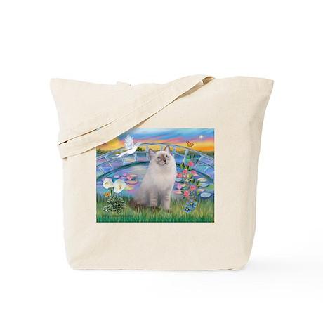 Lilies / Ragdoll Tote Bag