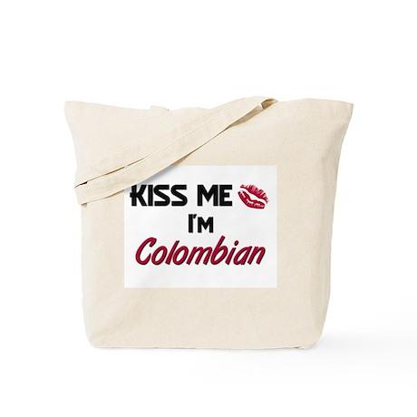 Kiss me I'm Colombian Tote Bag