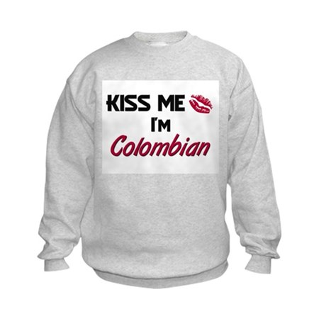 Kiss me I'm Colombian Kids Sweatshirt