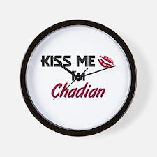 Kiss me I'm Chadian Wall Clock