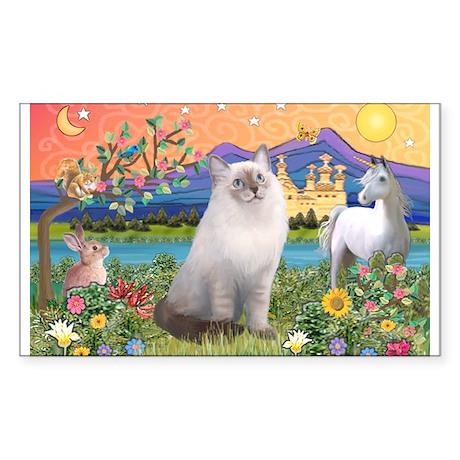 Fantasy Land / Ragdoll Cat Rectangle Sticker