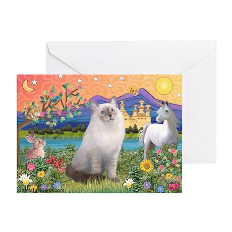 Fantasy Land / Ragdoll Cat Greeting Cards (Pk of 1