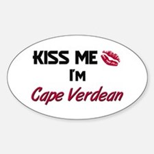 Kiss me I'm Cape Verdean Oval Decal
