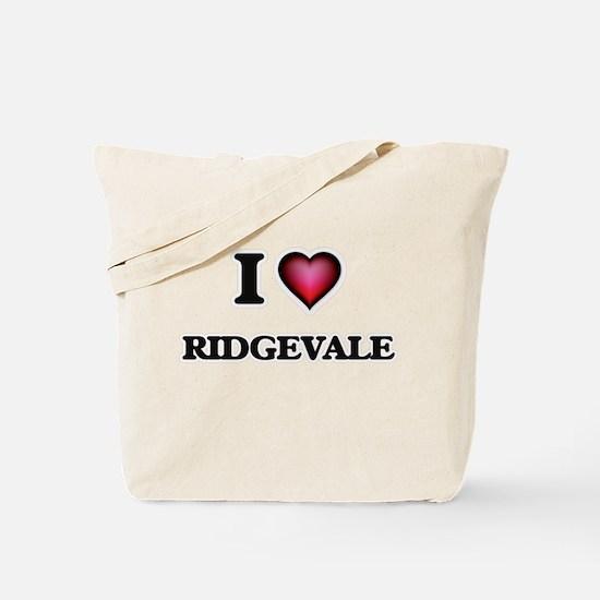 I love Ridgevale Massachusetts Tote Bag