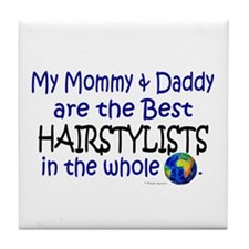 Best Hairstylists In The World Tile Coaster
