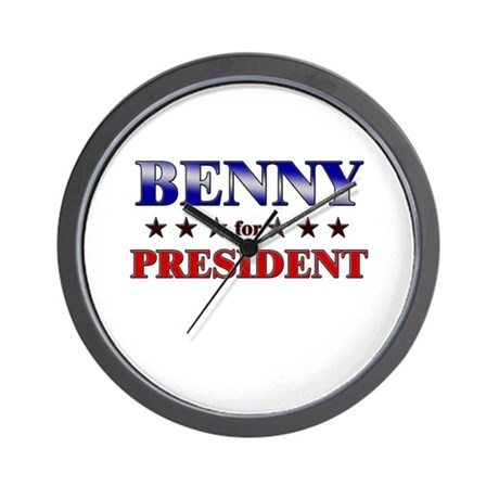 BENNY for president Wall Clock