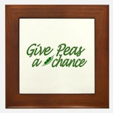 Give Peas a Chance Framed Tile