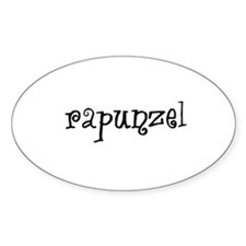 Rapunzel Oval Decal