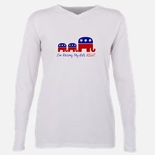 Cute Republican Plus Size Long Sleeve Tee