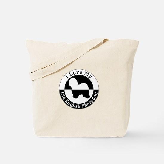 Cute Old english sheepdog Tote Bag