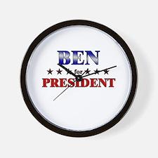 BEN for president Wall Clock