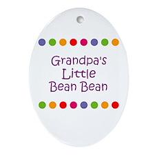 Grandpa's Little Bean Bean Oval Ornament