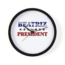 BEATRIZ for president Wall Clock