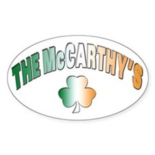 The McCarthy family Oval Decal