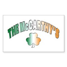 The McCarthy family Rectangle Decal