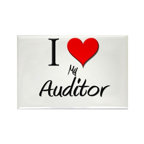 I Love My Auditor Rectangle Magnet