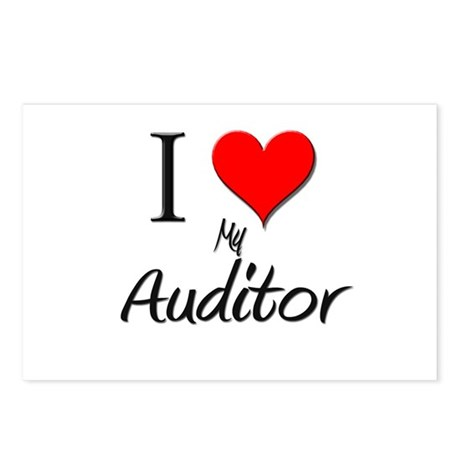 I Love My Auditor Postcards (Package of 8)