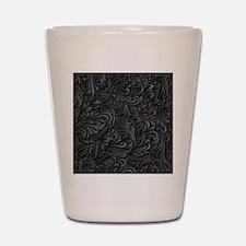 Black Flourish Shot Glass