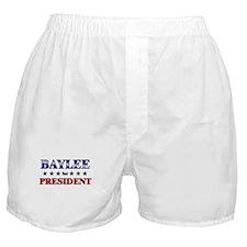 BAYLEE for president Boxer Shorts